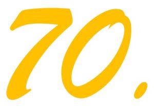Zwischenstand zum 70.